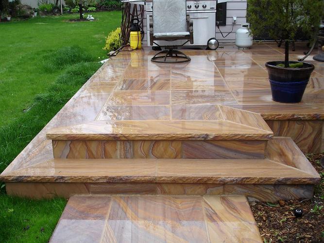 Hessel Stone Fabrication - Rainbow - Patio stone photo gallery
